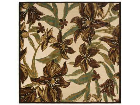 Surya Portera 7'6'' Square Rust, Dark Green & Camel Area Rug