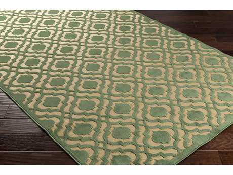 Surya Portera 2'6'' x 7'10'' Rectangular Dark Green & Khaki Runner Rug