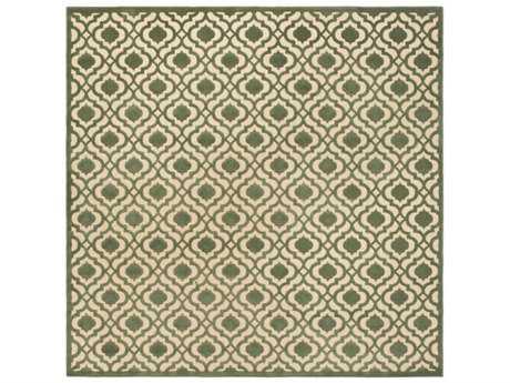 Surya Portera 7'6'' Square Dark Green & Khaki Area Rug