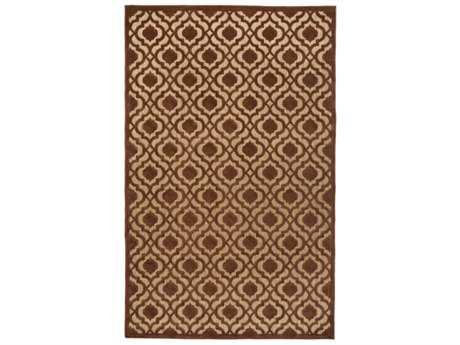 Surya Portera Rectangular Rust & Tan Area Rug