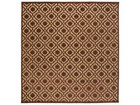 Surya Portera 7'6'' Square Rust & Tan Area Rug