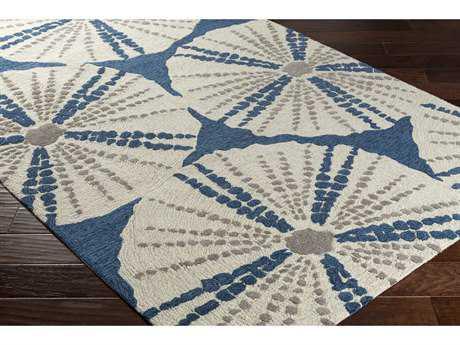 Surya Pescadaro Rectangular Bright Blue, Dark Brown & Khaki Area Rug