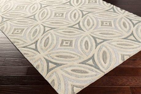 Surya Perspective Rectangular Ivory & Medium Gray Area Rug