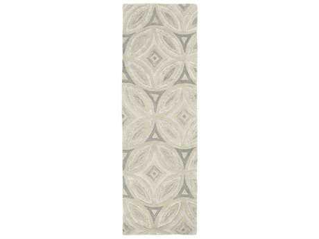 Surya Perspective 2'6'' x 8' Rectangular Ivory & Medium Gray Runner Rug
