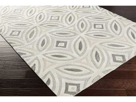 Surya Perspective Rectangular Ivory, Medium Gray & Light Gray Area Rug