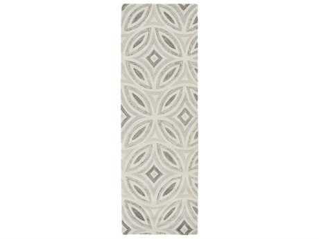 Surya Perspective 2'6'' x 8' Rectangular Ivory, Medium Gray & Light Gray Runner Rug