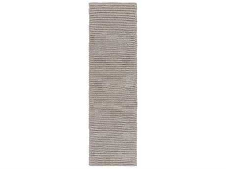 Surya Pura 2'6'' x 8' Rectangular Light Gray Runner Rug