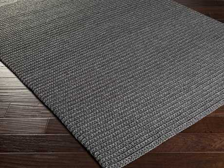Surya Pura Rectangular Black Area Rug