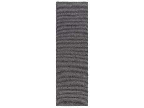 Surya Pura 2'6'' x 8' Rectangular Black Runner Rug