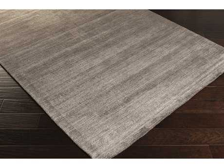 Surya Pure Rectangular Medium Gray, Camel & Light Gray Area Rug