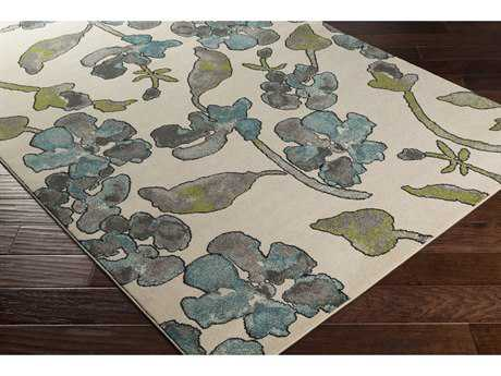 Surya Priyanka Rectangular Emerald, Dark Green & Khaki Area Rug