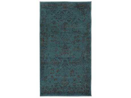 Surya Priyanka Rectangular Emerald, Navy & White Area Rug