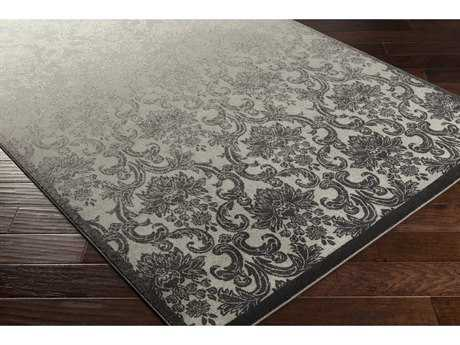 Surya Priyanka Rectangular Black, Light Gray & Medium Gray Area Rug