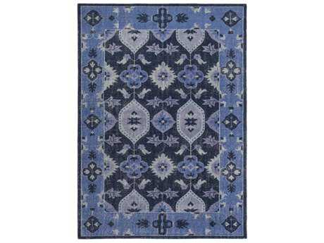 Surya Pazar Rectangular Navy & Dark Blue Area Rug