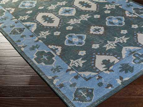 Surya Pazar Rectangular Sky Blue Area Rug