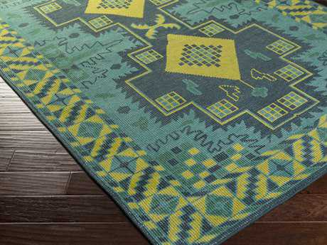 Surya Pazar Rectangular Kelly Green Area Rug
