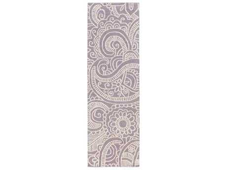 Surya Queensland 2'6'' x 8' Rectangular Mauve Runner Rug