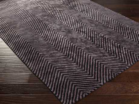 Surya Quartz Rectangular Eggplant Area Rug