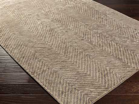 Surya Quartz Rectangular Dark Brown & Tan Area Rug