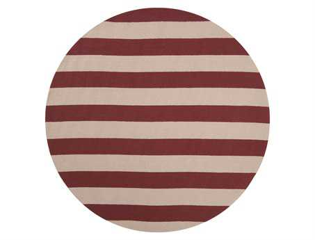 Surya Rain 8' Round Red Area Rug