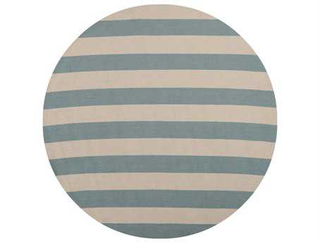 Surya Rain 8' Round Blue Area Rug