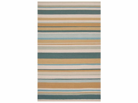 Surya Rain Rectangular Teal Area Rug