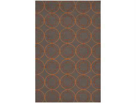 Surya Rain Rectangular Gray Area Rug