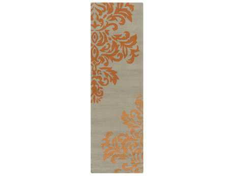 Surya Rain 2'6'' x 8' Rectangular Burnt Orange & Taupe Runner Rug