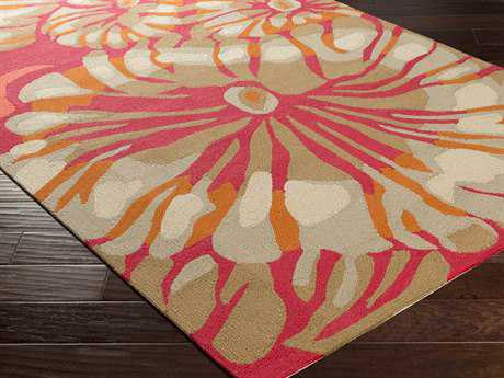 Surya Rain Rectangular Hot Pink Area Rug