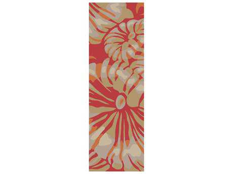 Surya Rain 2'6'' x 8' Rectangular Hot Pink Runner Rug