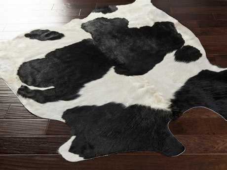 Surya Rawhide Rectangular Black Area Rug