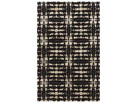 Surya Ridgewood Rectangular Black Area Rug