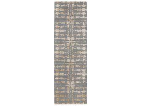 Surya Ridgewood 2'6'' x 8' Rectangular Khaki & Navy Runner Rug