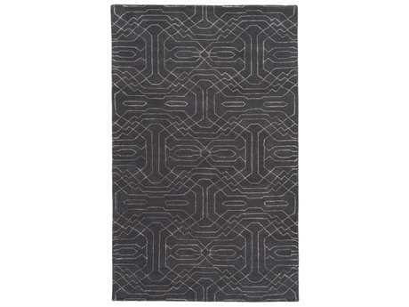 Surya Ridgewood Rectangular Black & Light Gray Area Rug