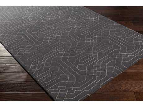 Surya Ridgewood Rectangular Black & Light Gray Area Rug
