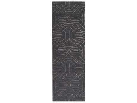 Surya Ridgewood 2'6'' x 8' Rectangular Black & Light Gray Runner Rug