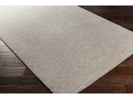 Surya Ridgewood Rectangular Light Gray & Cream Area Rug