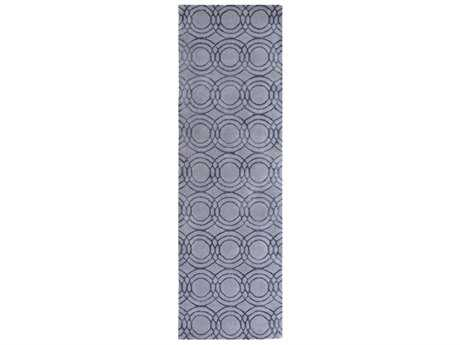 Surya Ridgewood 2'6'' x 8' Rectangular Medium Gray & Black Runner Rug