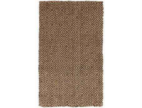 Surya Reeds Rectangular Brown Area Rug