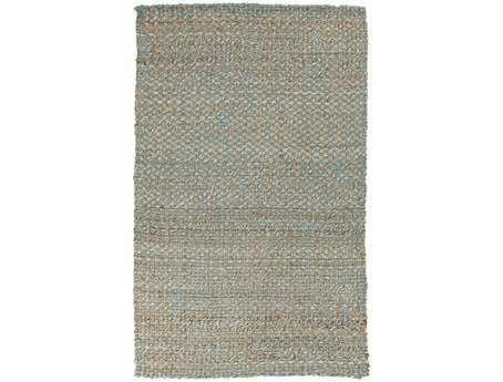 Surya Reeds Rectangular Gray Area Rug