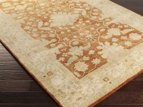 Surya Relic Rectangular Rust Area Rug