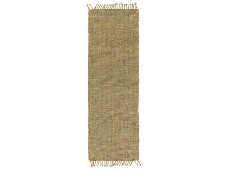 Surya Ryland 2'6'' x 8' Rectangular Grass Green & Khaki Runner Rug