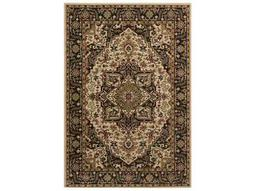 Surya Riley Rectangular Black, Olive & Camel Area Rug