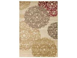 Surya Riley Rectangular Butter, Wheat & Medium Gray Area Rug