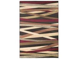 Surya Riley Rectangular Burgundy, Dark Brown & Butter Area Rug