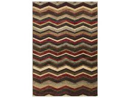 Surya Riley Rectangular Burgundy, Black & Camel Area Rug