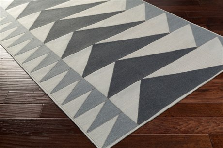 Surya Renata Rectangular Light Gray Area Rug