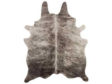 Surya Rusak 5' x 6'6 Rectangular Light Gray & Camel Area Rug
