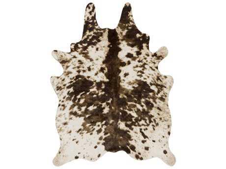 Surya Rusak 5' x 6'6 Rectangular Dark Brown, Camel & Cream Area Rug