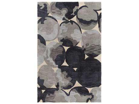 Surya Rivera Rectangular Butter, Light Gray & Medium Gray Area Rug